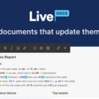 Livedocs - create documents that update themselves