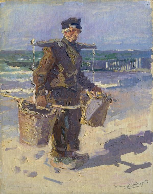 'Schelpenvisser' 1904 - olieverf op doek op paneel: Jan Toorop (herkomst: coll. RIjksmuseum, Amsterdam)