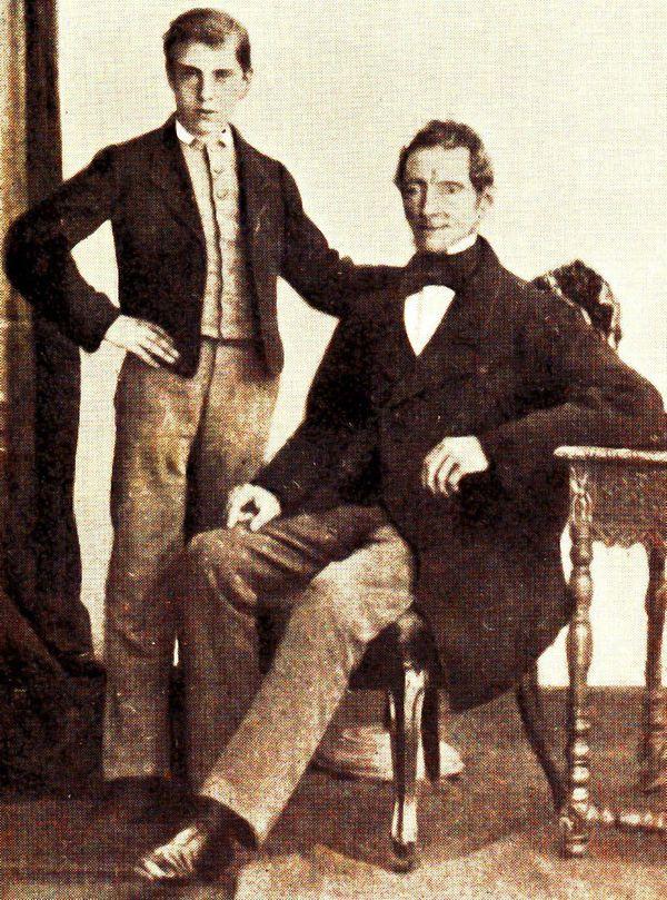 Halfbroer Wouter Cool jr. en vader Wouter Cool sr.