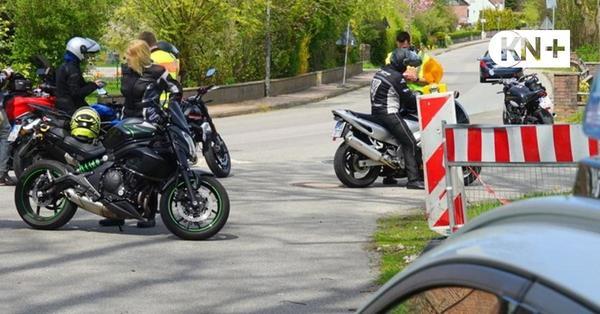 Polizei kontrollierte in Stocksee Massen von Motorradfahrern