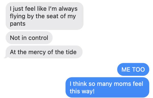 Texting with my producing partner, Natasha