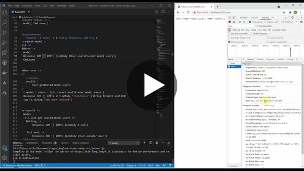 Building Rest API's with elm? (experiment)