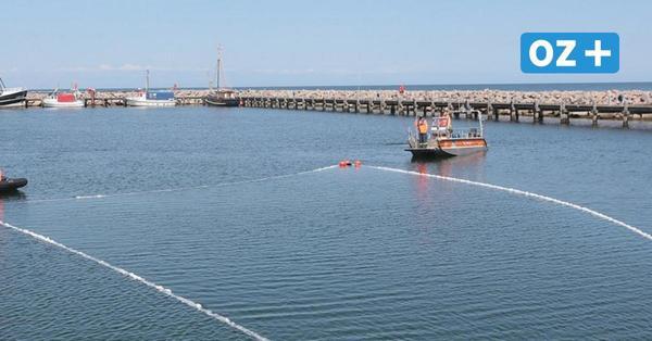 Öl im Hafen von Kühlungsborn: Technisches Hilfswerk übt den Ernstfall