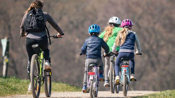 Aber sicher: Fahrradtour mit Kindern