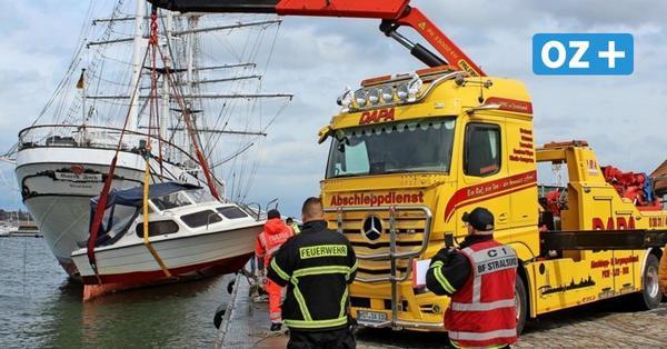 Motorboot im Stralsunder Hafen gesunken – Bergung dürfte teuer werden