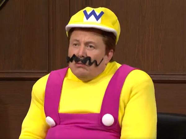 Having a billionaire appear as Wario is as transgressive as SNL got last week.
