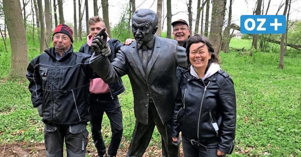 Klein Strömkendorf: Erdogan-Statue im Skulpturenpark aufgestellt