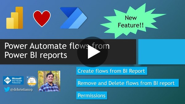 Power Automate Flows from Power BI