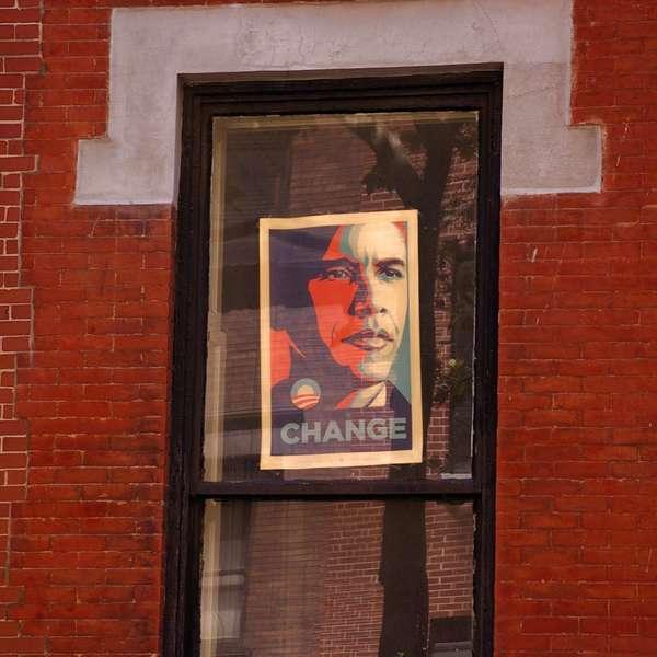 Change in Greenwich Village, New York City, August 2008.