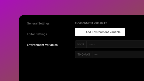 Add Environment Variable