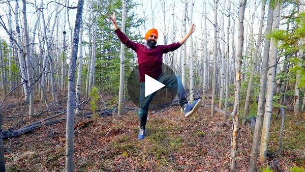 Bhangra in Boreal forest of the Yukon for Joy and Positivity