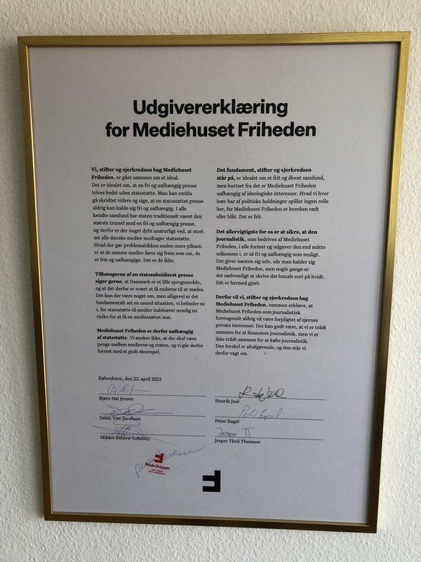 Mads Brüggers frihedsbrev