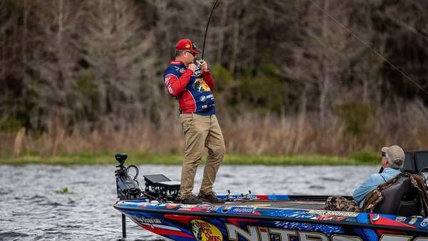 Brian Snowden knows the the bass and shad spawn are interrelated in the spring. (photo by Bassmaster media)