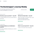 The Bootstrapper's Journey Weekly
