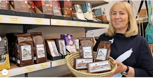Eine-Welt-Laden: Kaffee und Schokolade jetzt mit Wolgaster Lokalkolorit