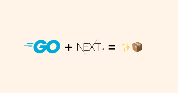 Portable apps with Go and Next.js