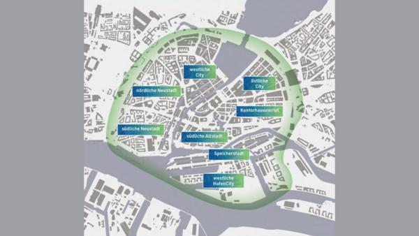 De l'Alster à la HafenCity : les différents quartiers du centre-ville de Hambourg (HK)