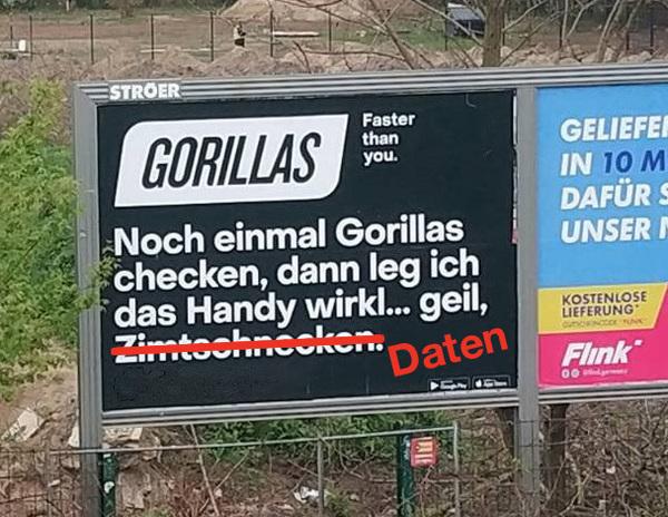 Gorillas: Einhornaufschnitt, 150g, im Angebot 🦍❤️ - zerforschung