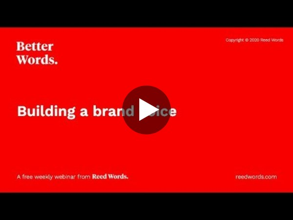 Better Words: Building a brand voice
