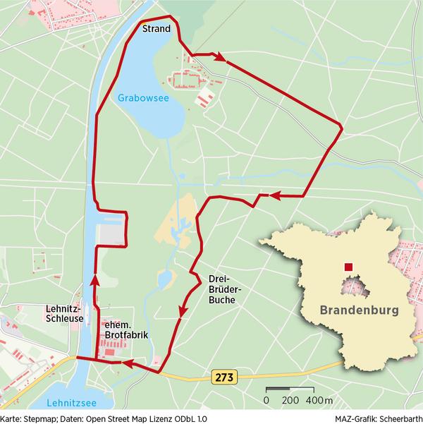 Per Klick auf die Karte gelangen Sie zur Wanderung beim Tourenanbieter Komoot.