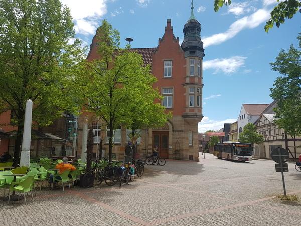 Der Marktplatz von Hessisch Oldendorf. (Foto: Bernd Haase)