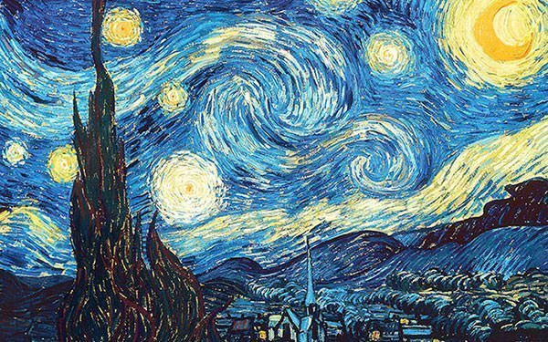 """The Starry Night by Vincent van Gogh, (1889) is considered to be one of the most well-known paintings in the world. However, van Gogh was not famous as an artist during his lifetime. """"Van Gogh, who had a struggle with mental illness, admitted himself to the Saint-Paul asylum in Saint-Rémy-de-Provence in France on 8th May 1889. Although painted during the day, this masterpiece depicts the night view outside the window of Van Gogh's room at the asylum."""""""