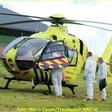 Traumaheli Lifeliner1 landt bij Ofwegen voor medische noodsituatie