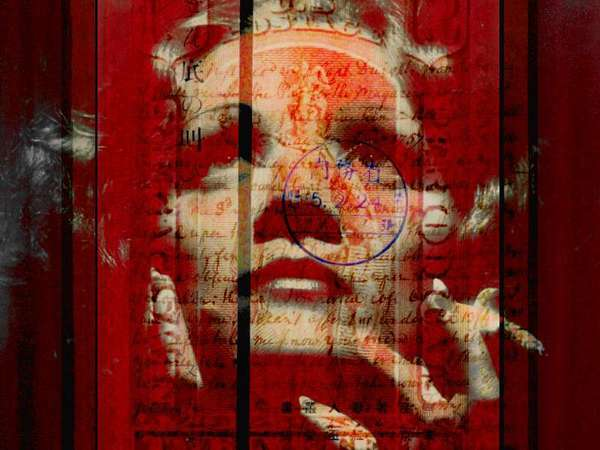 Marlene Dietrich, photo composite, 18 May 2021