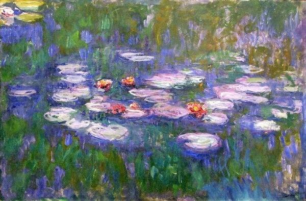 Claude Monet 1916-19 Water Lilies.