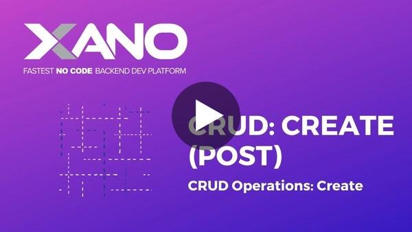 CRUD: Create (POST) Operation