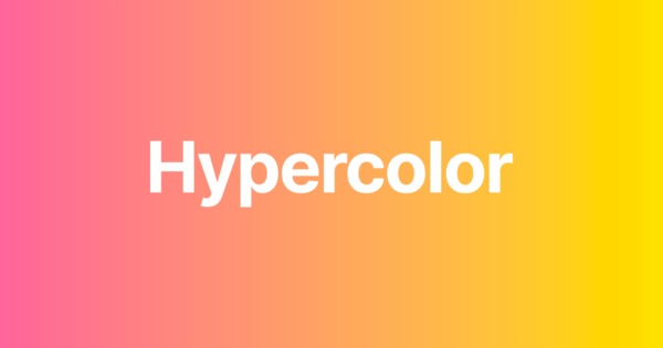 Hypercolor - Tailwind CSS Gradient Palette