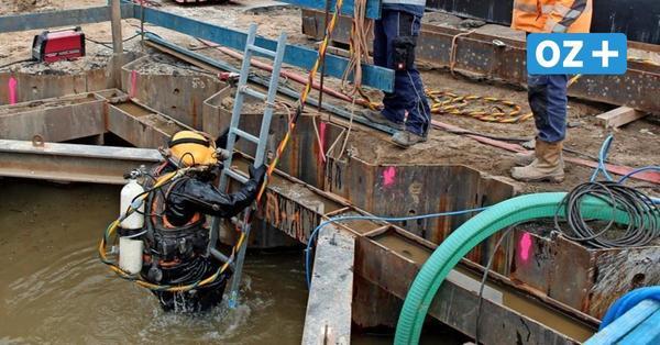 Taucher im Einsatz auf Wismars größter Baustelle: Das ist der Grund