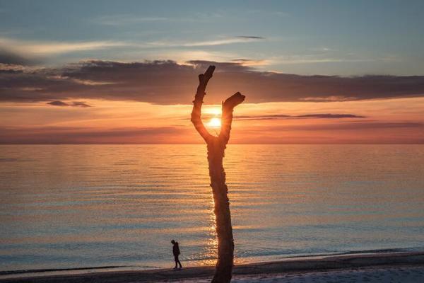 Sonnenuntergang am Meer (Foto: Klaus Haase)