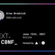 Drew Bredvick's Next.js Conf Ticket