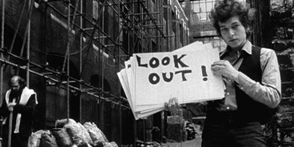 Bob Dylan (bron: Don't Look Back)