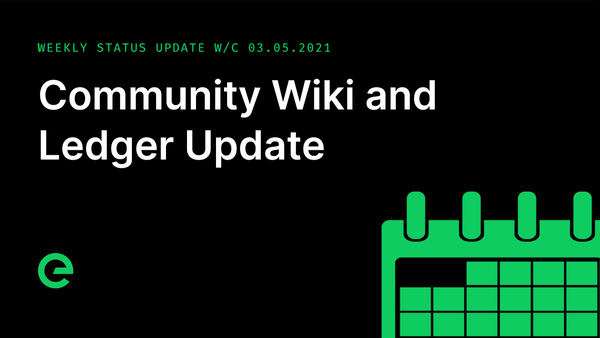 Weekly Update: W/C 03rd May, 2021