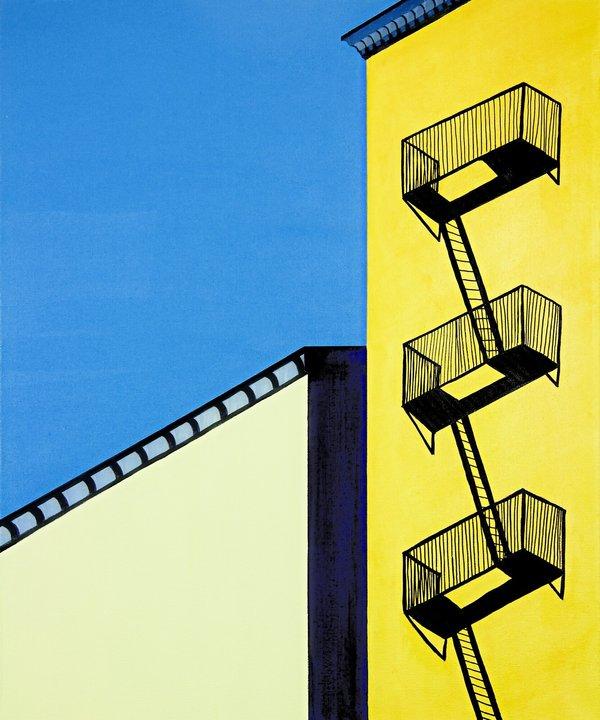 Marco Domeniconi, Balcony Seats to the City Acrylic on canvas - 20 x 24 in.