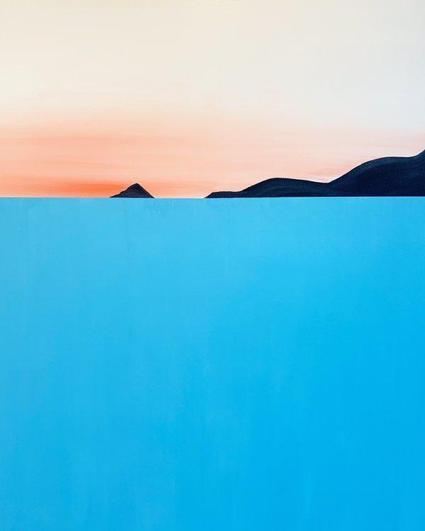 Marco Domeniconi, Marina di Carrara Acrylic on cotton canvas - 46 x 60 in