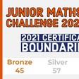 UKMT JMC 2021 Gold Silver Bronze certificate boundaries (and Kangaroo and Olympiad)