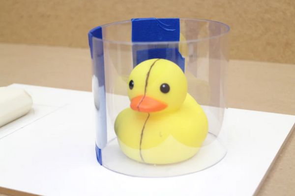 Paige Russell's rubber ducky block mold.