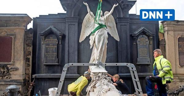 Tolkewitzer Engel kehrt auf den Friedhof zurück