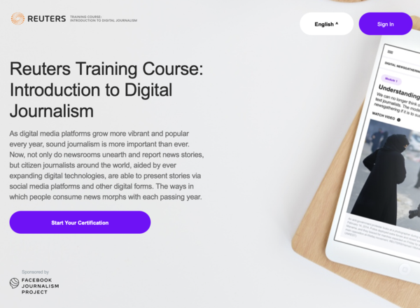 Reuters Training Course: Introduction to Digital Journalism