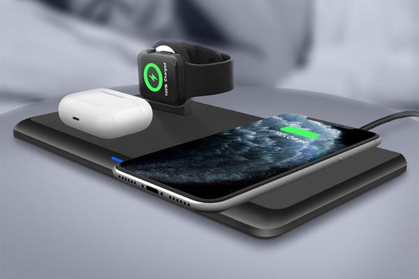 Power up 3 devices at once with this sleek wireless charger