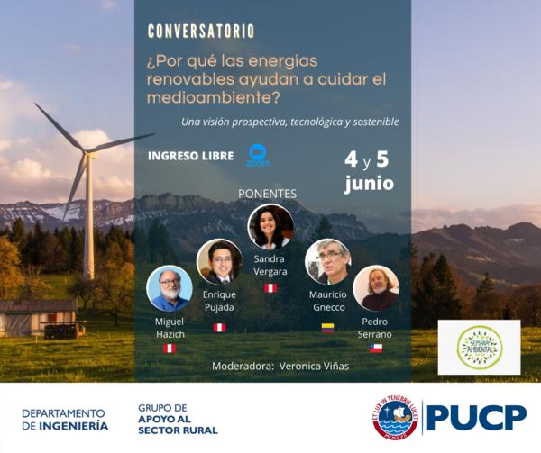 Upcoming event: ¿Por qué las energías renovables ayudan a cuidar el medioambiente?
