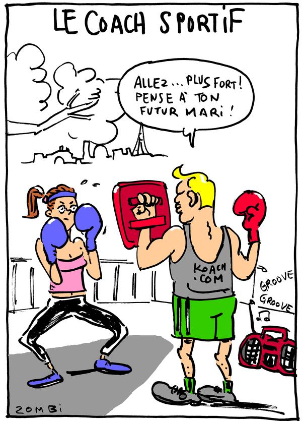 Caricature par Zombi pour le fanzine Zébra.