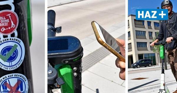 Auch in Garbsen stehen nun E-Scooter bereit - eine Probefahrt