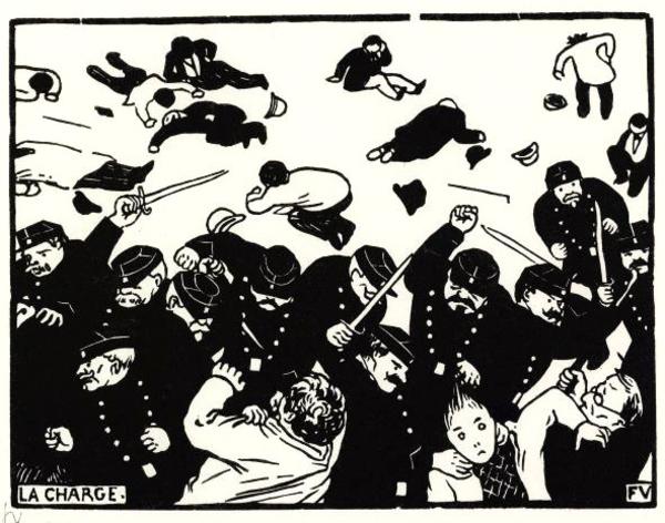 La Charge de la police républicaine (1898) par Félix Vallotton.