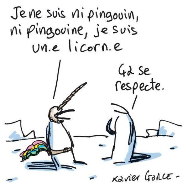 """Extrait de la série """"Les Indégivrables"""" par X. Gorce."""