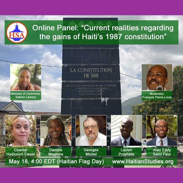 VIDEO: Current realities regarding the gains of Haiti's 1987 constitution | Facebook