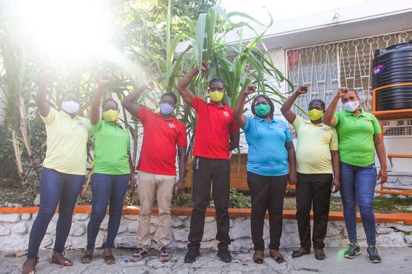 Une partie de la permanence de Kay Fanm dans nos bureaux de Port-au-Prince